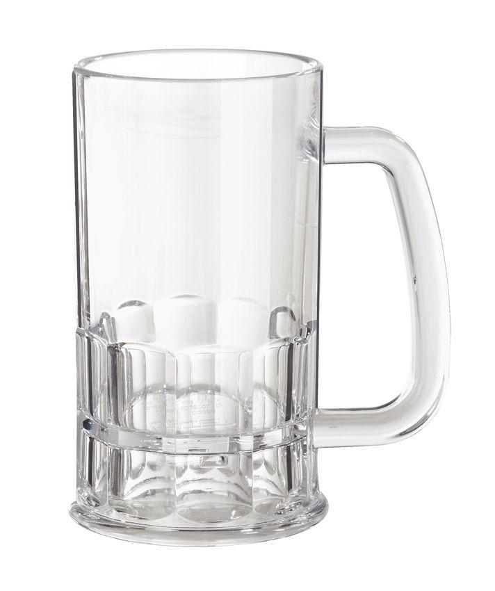 G.E.T. Enterprises 00084-1-TRITAN-CL Clear Tritan 12 oz. Beer Mug