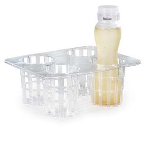 Clear Tritan 25 pc. Set � 1 (One) Rack, 4 (Four) SDB-32 Bottles, 4 Clips & 16 Lids