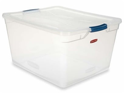 Clever Store Basic Latch Container, 3.75gal, Clear
