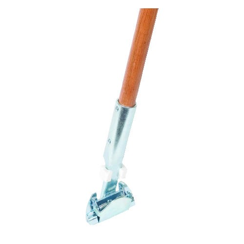 Clip-On  Swivel Head Wood Dust Mop Handle