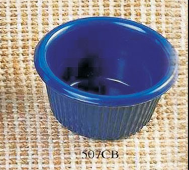 Thunder Group ML507CB Cobalt Blue Melamine1.5 oz. Fluted Ramekin 2-1/2""