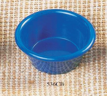 Thunder Group ML536CB Cobalt Blue Melamine 2.5 oz. Smooth Ramekin 2-7/8""