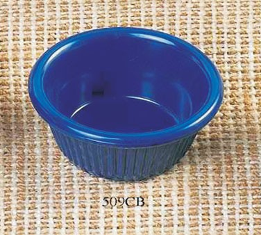 Thunder Group ML509CB Cobalt Blue Melamine 2 oz. Fluted Ramekin 2-7/8""