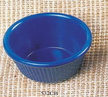Cobalt Blue Melamine 3-3/4Oz. Fluted Ramekin - 3-3/8