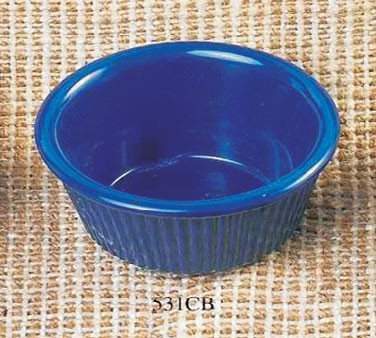 Thunder Group ML531CB Cobalt Blue Melamine 3 oz. Fluted Ramekin