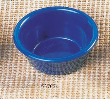 Cobalt Blue Melamine 3 Oz. Smooth Ramekin - 3-1/8