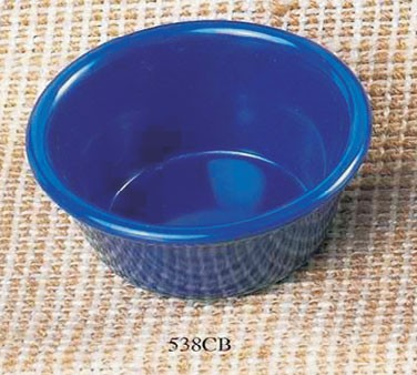 Cobalt Blue Melamine 4 Oz. Smooth Ramekin - 3-3/8