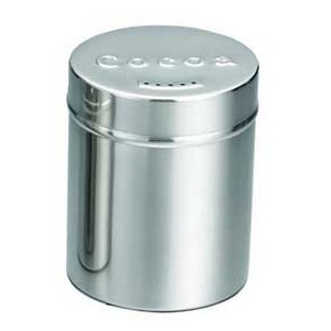 TableCraft 755 Stainless Steel Seattle Cocoa Shaker, 6 oz.
