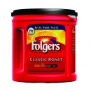 Folgers Classic Roast Regular Coffee Can, Ground 33.9 oz.