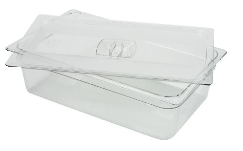 Cold Food Pan Covers, 6 3/8w x 6 7/8d, Clear