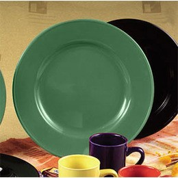 CAC China CDE-16GR Color Dinner Plate, Green 10 5/8""