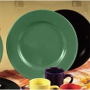 CAC China CDE-21GR Color Dinner Plate, Green 12""