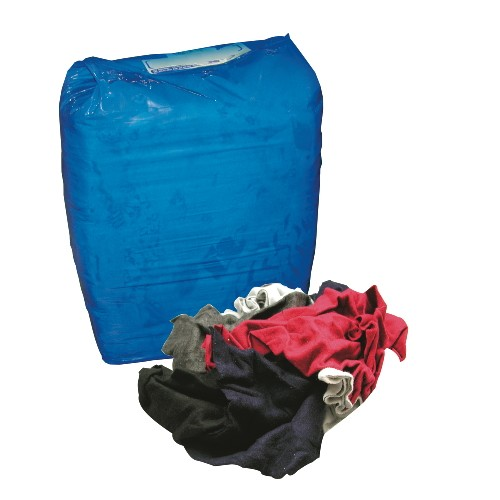 Colored Polo T-Shirt Rags, 10 lbs