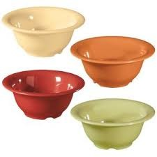 Combo Pack of 4 Harvest Colors Melamine 10 oz. (10 oz. Rim-Full), 5.5