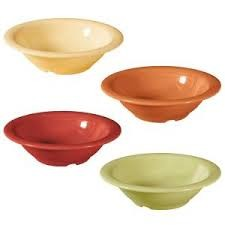 Combo Pack of 4 Harvest Colors Melamine 12 oz. (15.5 oz. Rim-Full), 7.25