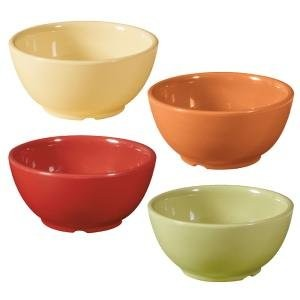 Combo Pack of 4 Harvest Colors Melamine 10 oz. (10.5 oz. Rim-Full), 4.5