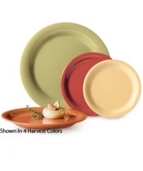 G.E.T. Enterprises SP-NP-10-COMBO Combo Pack of 4 Harvest Colors Melamine Narrow Rim Plate 10-1/2""