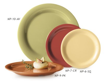 G.E.T. Enterprises SP-NP-6-COMBO Combo Pack of 4 Harvest Colors Melamine Narrow Rim Plate 6-1/2""