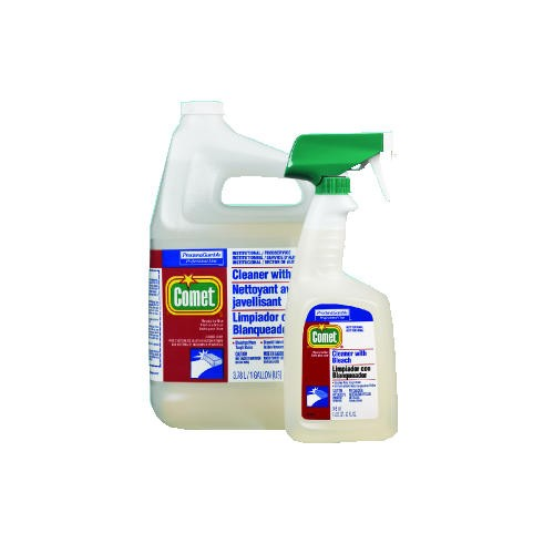 Comet Heavy-Duty Cleaner with Bleach Spray, Trigger Spray Bottle,32 Oz