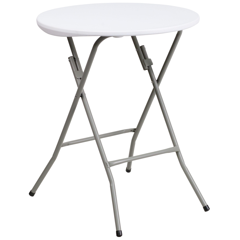 """Flash Furniture DAD-YCZ-80R-1-SM-GW-GG Commercial Grade Folding Table 24"""""""