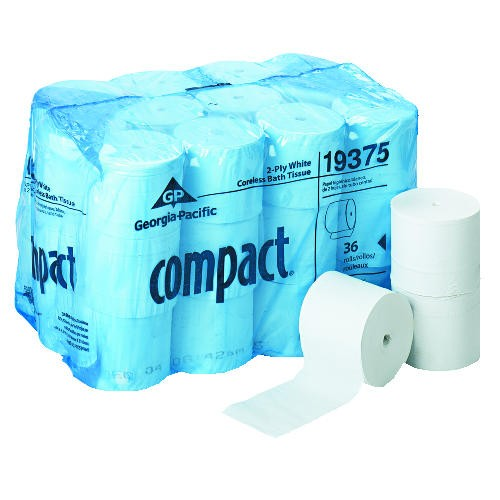 Compact Coreless Two Ply Bath Tissue, 1500 Sheets