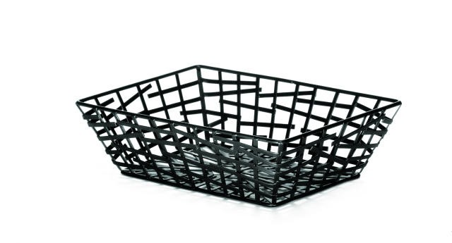 Complexity Black Rectangular Serving / Bread Basket - 9