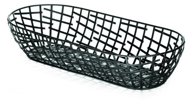 Complexity Collection Black Oblong Serving / Bread Basket - 15