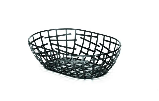 Complexity Collection Black Oval Serving / Bread Basket - 9