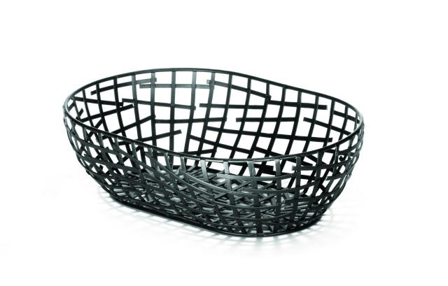 Complexity Collection Black Oval Serving / Bread Basket - 10-1/4