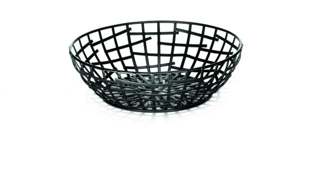 Complexity Collection Black Round Serving / Bread Basket - 8