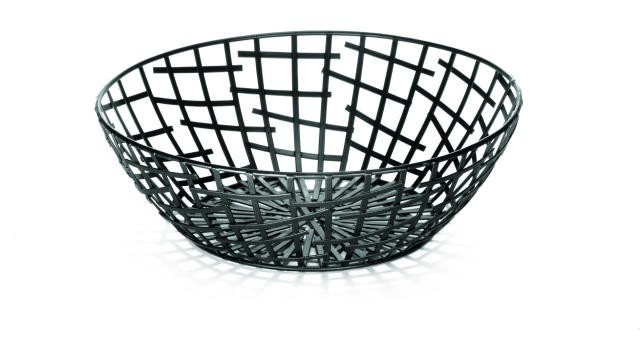 "TableCraft BC7510 Black Round Serving/Bread Basket 10"" Dia. x 3-1/4"""