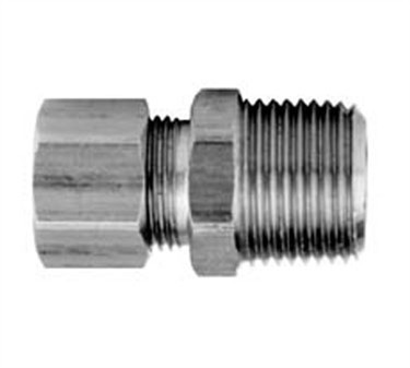 Connector, Male (3/8Odx1/4Npt )
