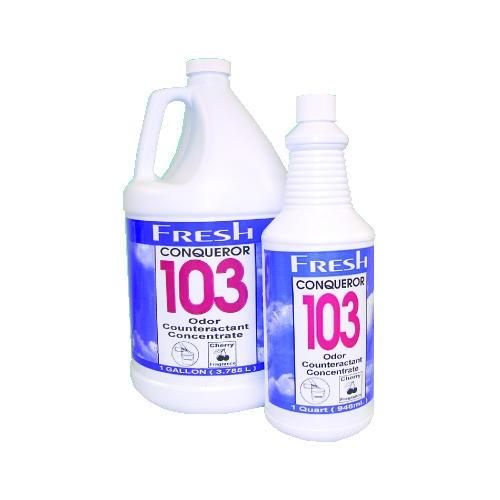 Conqueror 103 Concentrated Odor Counteract, Cherry, Gallon Bottles