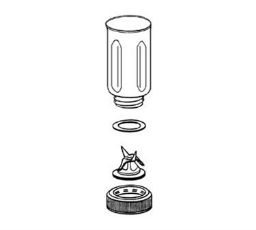 Franklin Machine Products  222-1217 Container Assembly, Stainless Steel