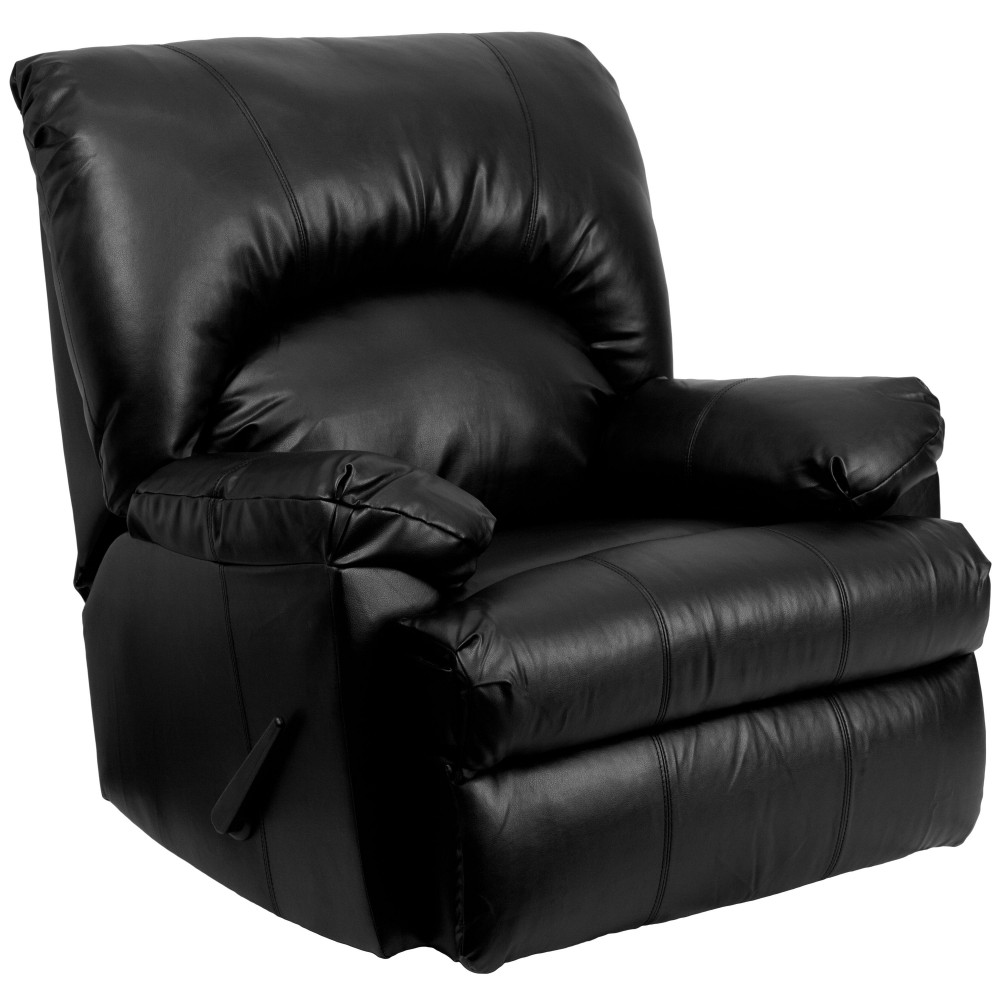 Contemporary Apache  Leather Rocker Recliner- 37''W x 40 - 64''D x 41.5''H