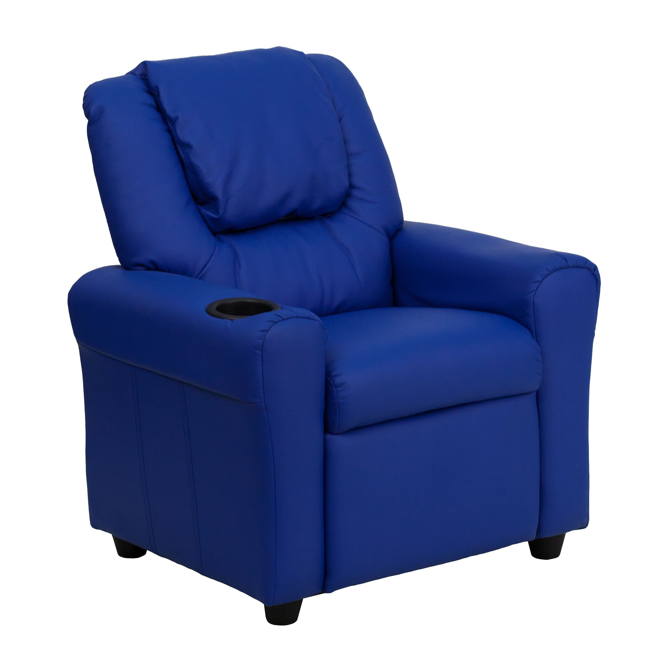 Flash Furniture DG-ULT-KID-BLUE-GG Contemporary Blue Vinyl ...