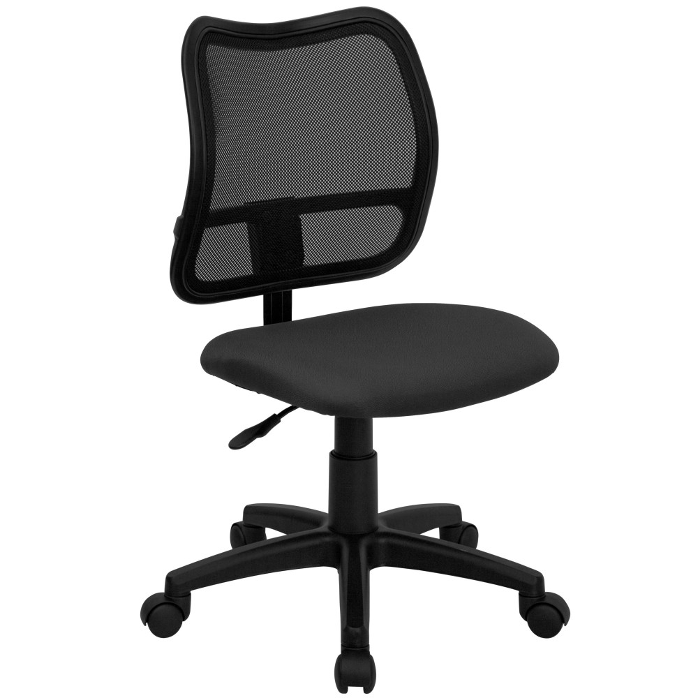 Flash Furniture WL-A277-GY-GG Contemporary Mesh Task Chair Gray Fabric Seat