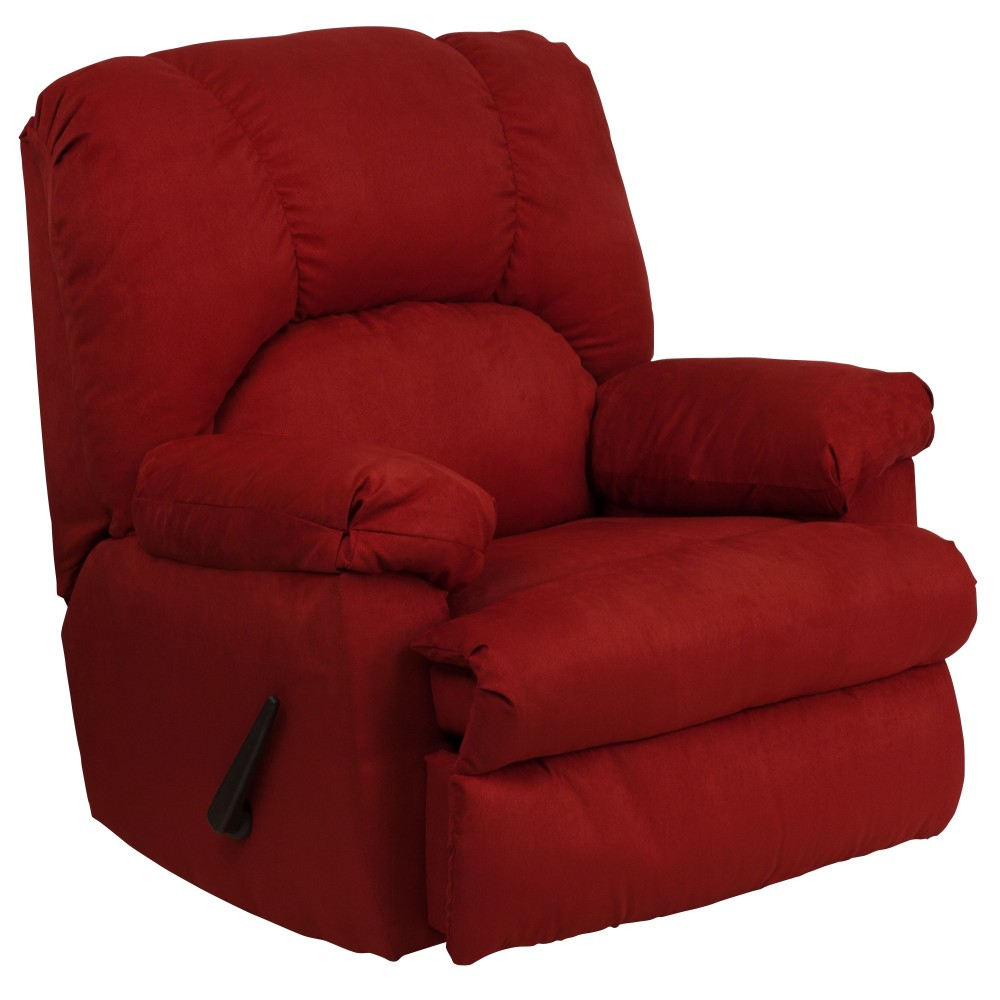 Flash Furniture WM-8500-265-GG Contemporary Montana Garnett Microfiber Suede Rocker Recliner