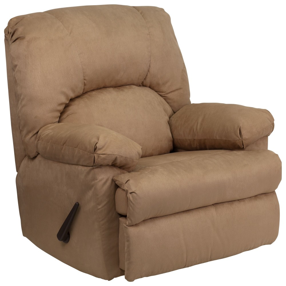 Flash Furniture WM-8500-264-GG Contemporary Montana Latte Microfiber Suede Rocker Recliner