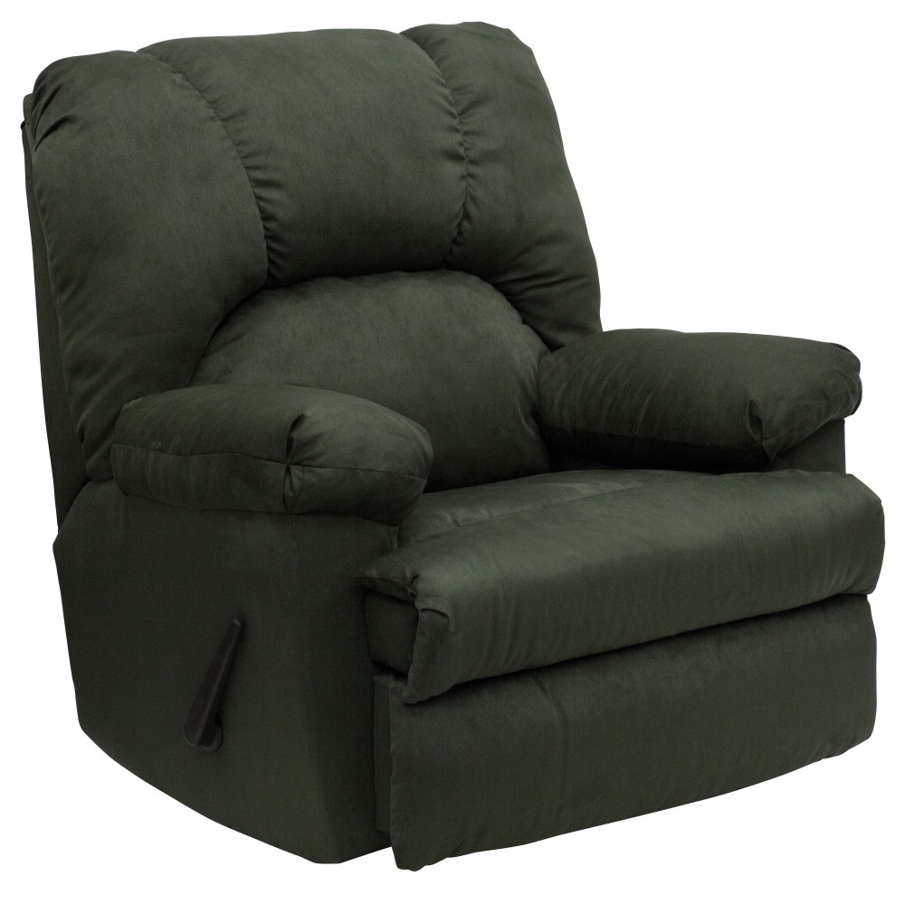 Flash Furniture WM-8500-266-GG Contemporary Montana Loden Microfiber Suede Rocker Recliner
