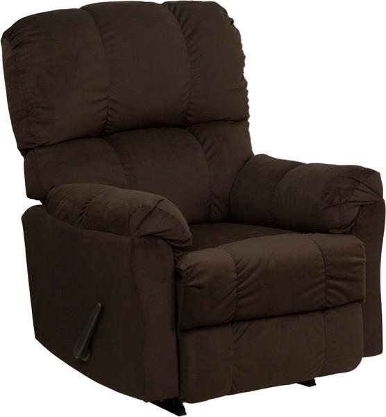 Flash Furniture AM-9320-4171-GG Contemporary Top Hat Chocolate Microfiber Rocker Recliner