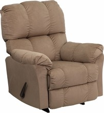 Flash Furniture AM-9320-4172-GG Contemporary Top Hat Coffee Microfiber Rocker Recliner