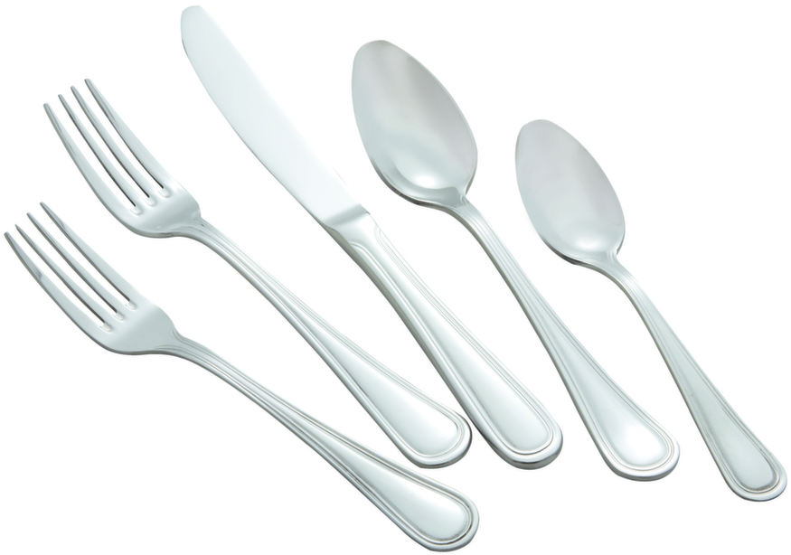Winco CONTINENTAL-EXTRA-HVY Continental Extra Heavy Weight 5-Piece Place Setting for 12 (60/Pack)