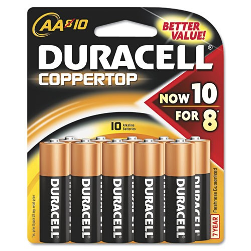 Coppertop Alkaline Batteries, AA-Cell, 1.5 Volt