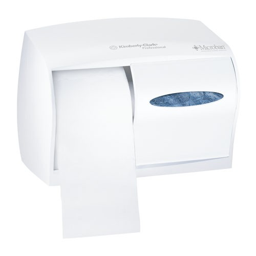 Coreless Double Roll Bathroom Toliet Tissue Dispenser, White