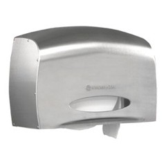 Coreless JRT Bath Tissue Dispenser, E-Z Load, 6 x 9.8 x 14.3,Stainless Steel
