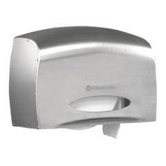 Coreless JRT Bath Tissue Dispenser, E-Z Load, 6 x 9.8 x 14.3,Stainless Steel