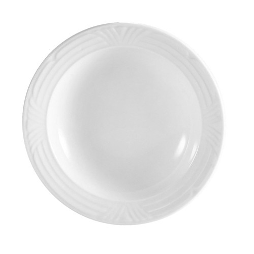 CAC China CRO-120 Porcelain Embossed Corona Pasta Bowl 24 oz.