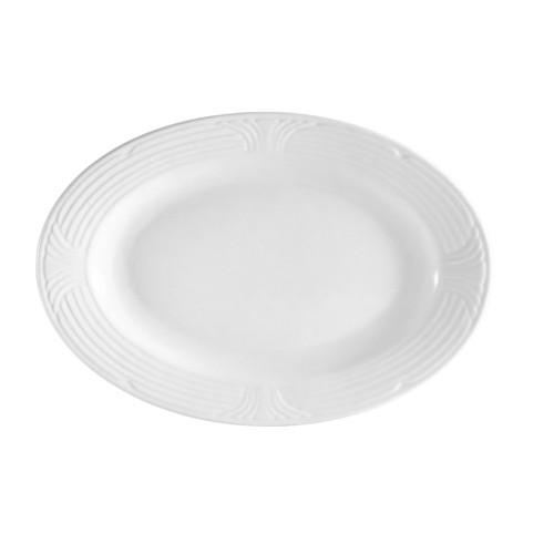 "CAC China CRO-14 Corona Porcelain Oval Platter 12 1/2"" x 8-3/4"""