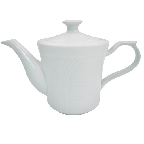 CAC China CRO-tp Porcelain Embossed Corona 15 oz. Tea Pot